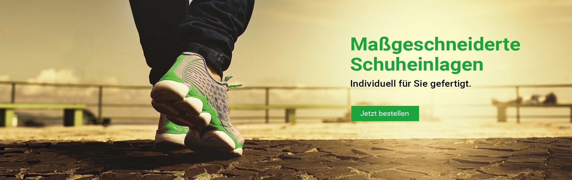 Individuelle Schuheinlagen - Einlegesohlen nach Maß